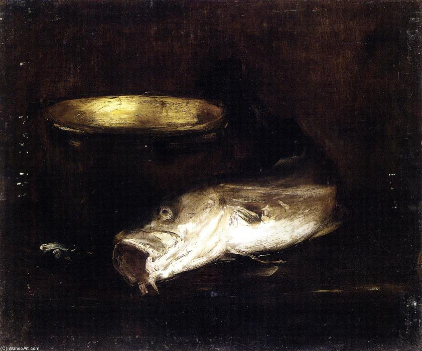 famous painting Still Life with Fish and Pot of William Merritt Chase