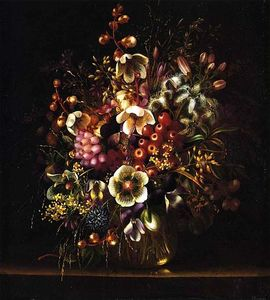 Adelheid Dietrich - Still Life with Flowers in a Vase