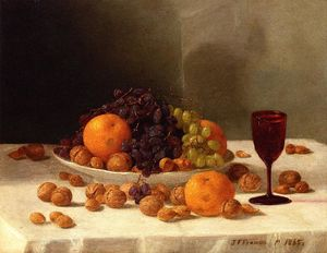 John F Francis - Still Life with Fruit and Nuts