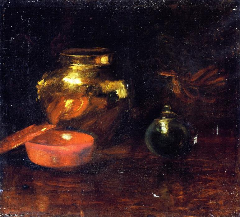 famous painting Still Life with Fruit and Pottery of William Merritt Chase