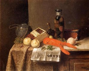 William Michael Harnett - Still Life with 'Le Figaro'