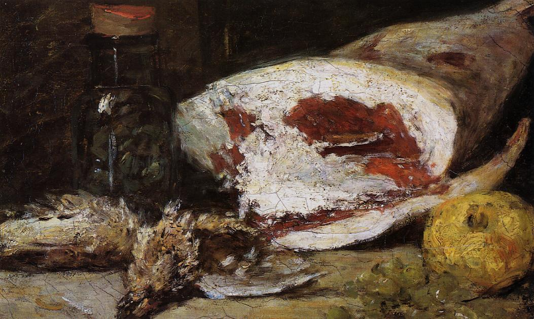 famous painting Still Life with a Leg of Lamb of Eugène Louis Boudin
