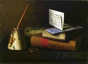 William Michael Harnett - Still Life with Letter to Mr. Lask