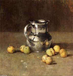 Soren Emil Carlsen - Still LIfe with Pitcher and Pivar