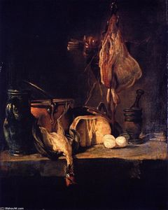 Jean-Baptiste Simeon Chardin - Still LIfe with Ray and Basket of Onions