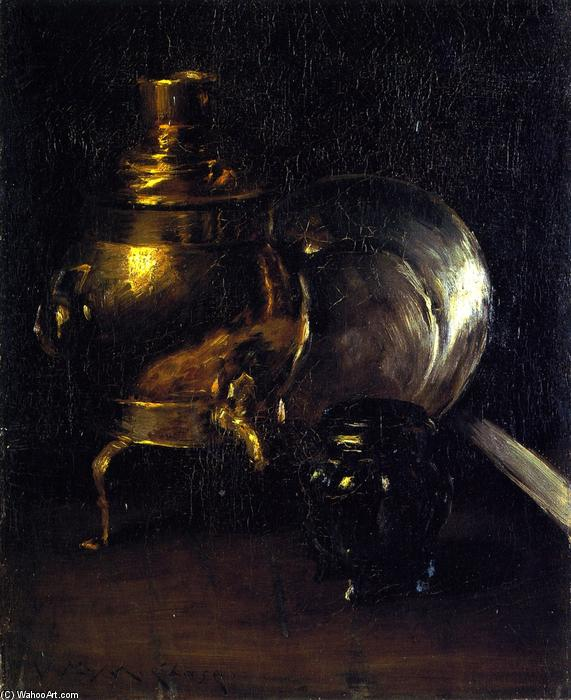 famous painting Still LIfe with Samovar of William Merritt Chase