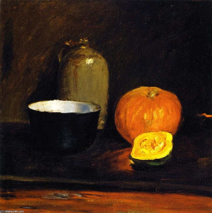 famous painting Still LIfe with Squash and Crockery of William Merritt Chase