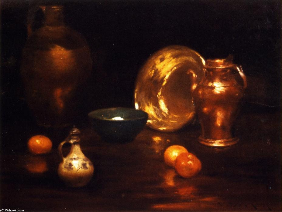 famous painting Still Life with Vessels and Fruit of William Merritt Chase