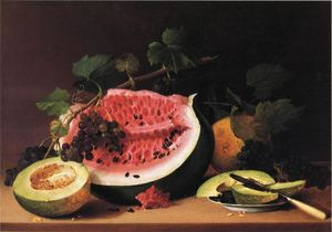 James Peale - Still Life with Watermelon