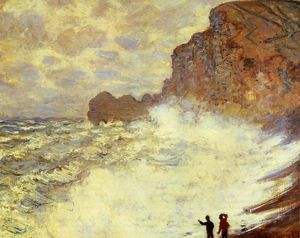 Claude Monet - Stormy Weather at Etretat