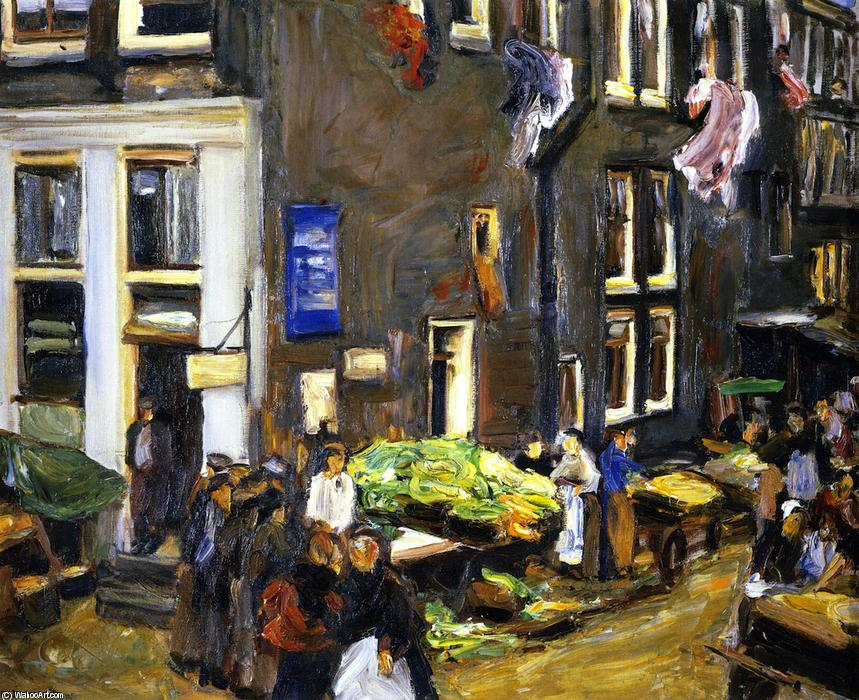 famous painting Street in the Jewish Quarter of Amsterdam of Max Liebermann