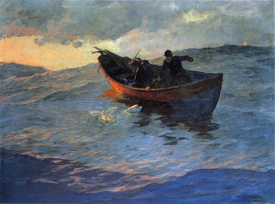 famous painting Struggle for the Catch of Edward Henry Potthast