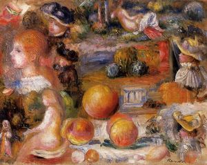 Pierre-Auguste Renoir - Studies: Woman's Heads, Nudes, Landscapes and Peaches