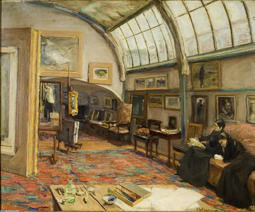 famous painting Studio of the painter at the Brandenburg Gate of Max Liebermann