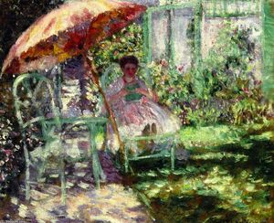 Frederick Carl Frieseke - Study for 'The Garden Parasol'