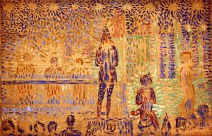 Georges Pierre Seurat - Study for 'Invitation to the Sideshow'