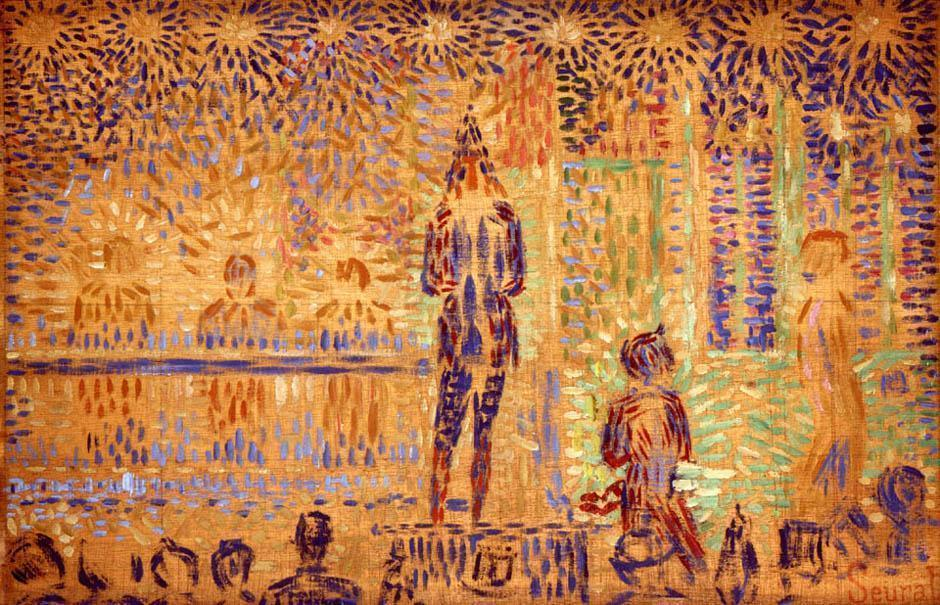 famous painting Study for 'Invitation to the Sideshow' of Georges Pierre Seurat