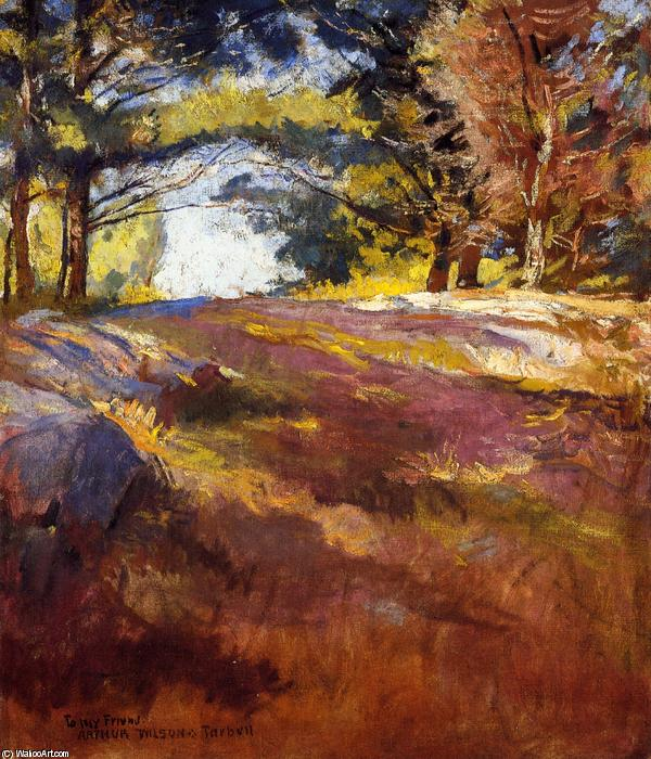 famous painting Study for 'On Bos'n's Hill of Edmund Charles Tarbell