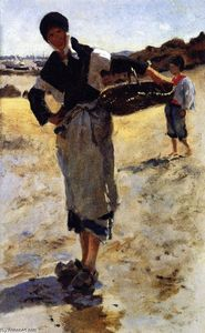 John Singer Sargent - Study for 'Oyster Gatherers at Cancale'