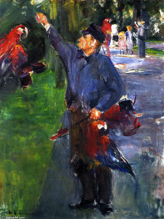 famous painting Study for 'Parrotman' of Max Liebermann