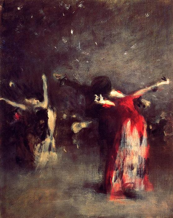famous painting Study for The Spanish Dance of John Singer Sargent