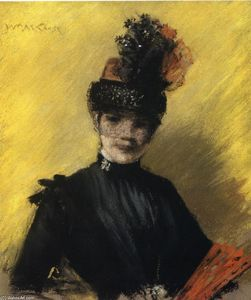 William Merritt Chase - Study of Black against Yellow (also known as Portrait of Mrs. Chase)