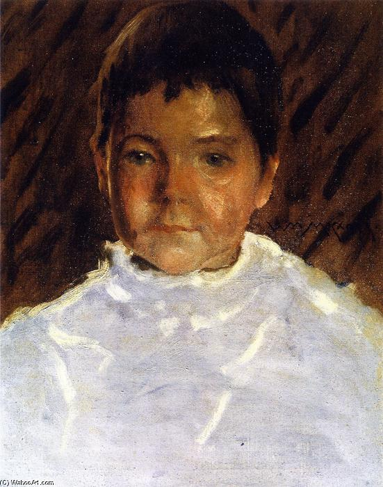 famous painting Study of a Boy's Head (also known as Robert Stewart Chase) of William Merritt Chase
