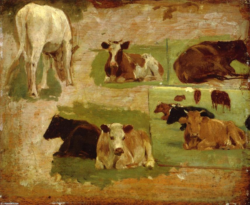 famous painting Study of Cattle of Eugène Louis Boudin