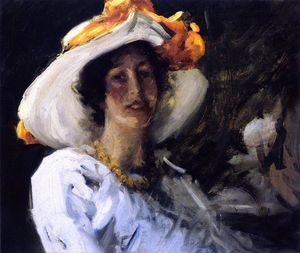 William Merritt Chase - Study of Clara Stephens