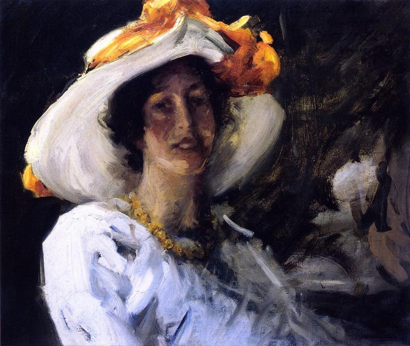 famous painting Study of Clara Stephens of William Merritt Chase