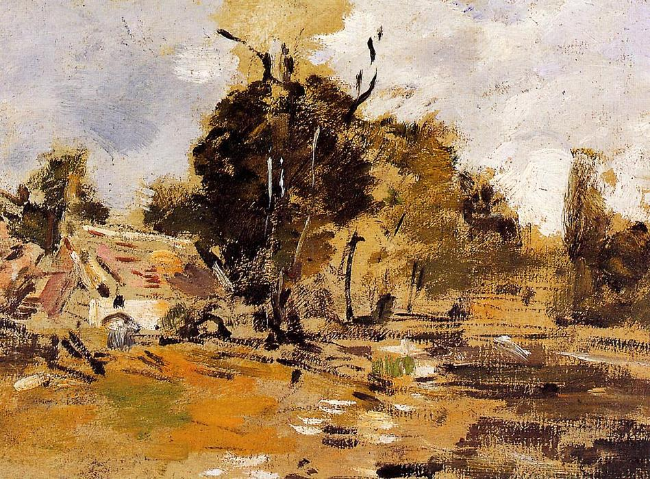 famous painting Study of a Farm, St-Ceneri of Eugène Louis Boudin