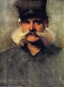 John Singer Sargent - Study of a Man Wearing a Tall Black Hat
