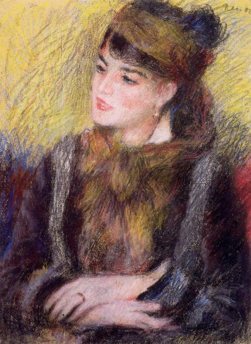 famous painting Study of a Woman of Pierre-Auguste Renoir