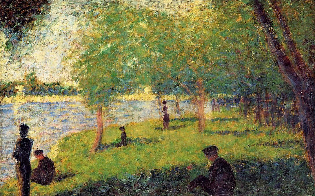 famous painting Study with Figures of Georges Pierre Seurat