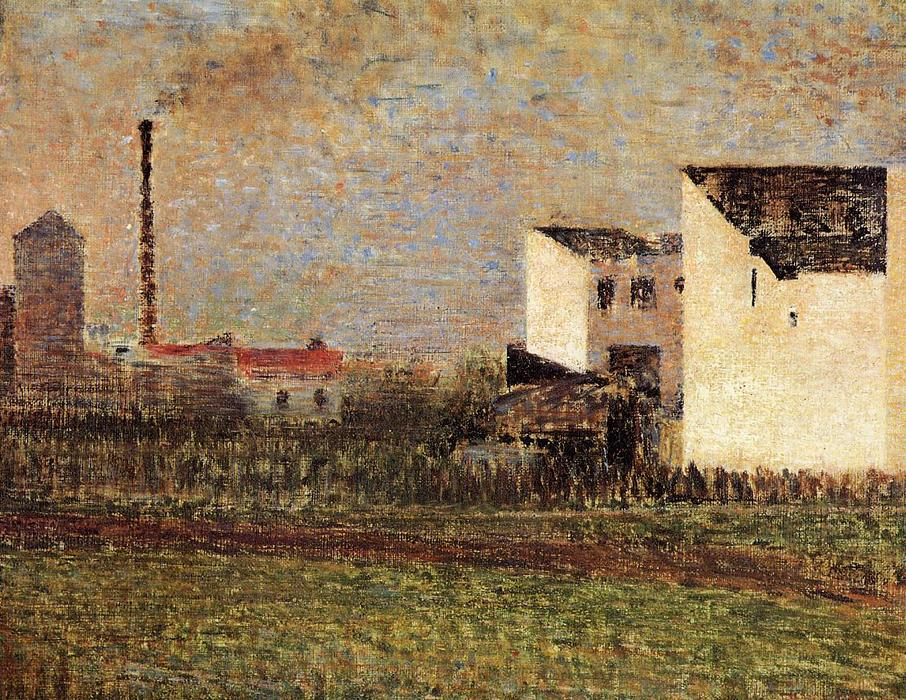 famous painting Suburb of Georges Pierre Seurat