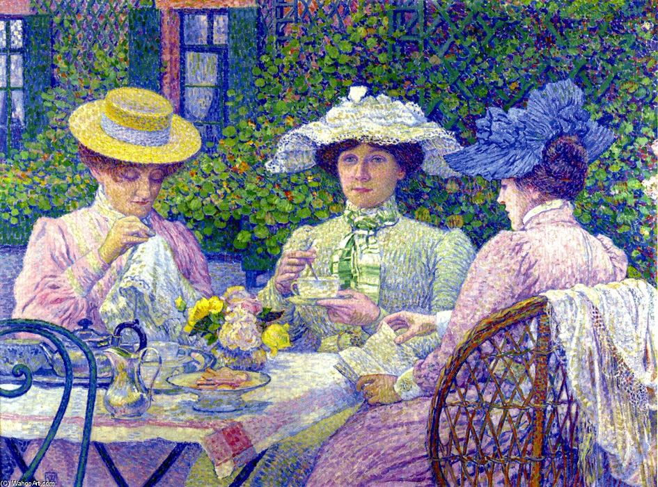 famous painting Summer Afternoon (also known as Apres-Midi d'ete) of Theo Van Rysselberghe