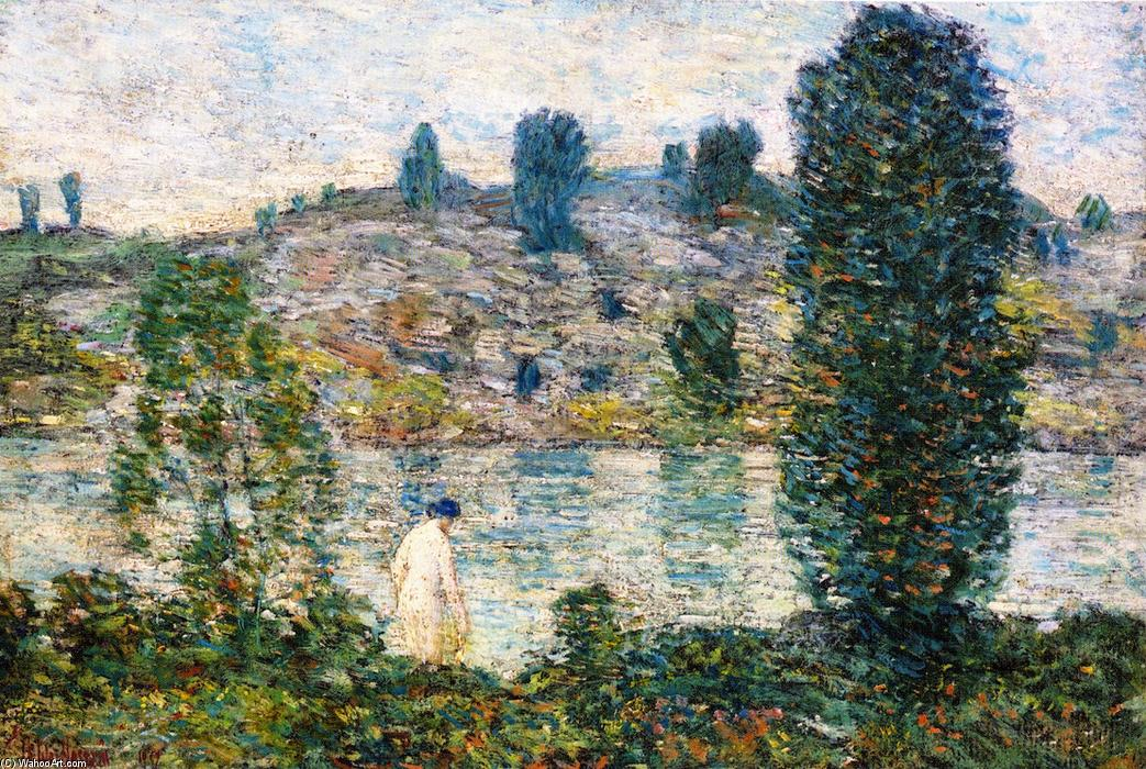 famous painting Summer Afternooon of Frederick Childe Hassam