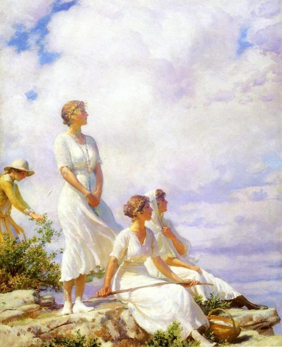 famous painting Summer Clouds of Charles Courtney Curran