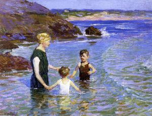 Edward Henry Potthast - Summer Wading