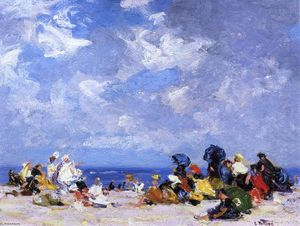Edward Henry Potthast - Sunday Afternoon at the Beach