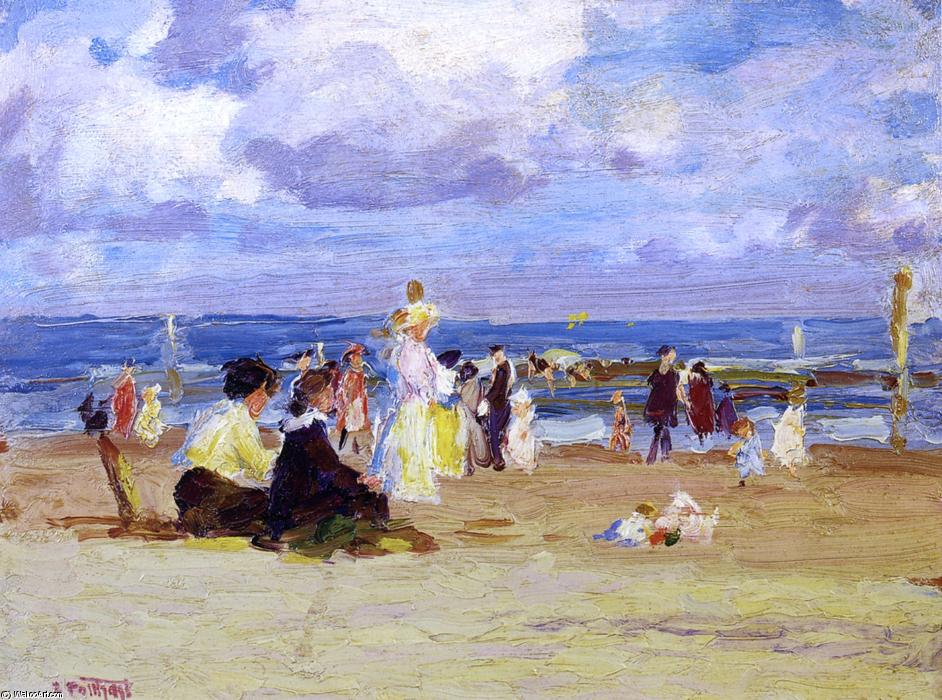 famous painting Sunday at the Beach of Edward Henry Potthast