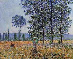 Claude Monet - Sunlight Effect under the Poplars