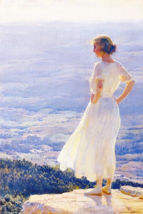 famous painting Sunlit Valley of Charles Courtney Curran