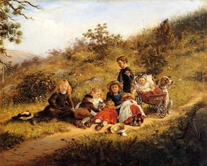 Edward Lamson Henry - The Sunny Hours of Childhood
