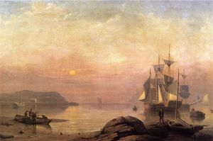 Fitz Hugh Lane - Sunrise through Mist