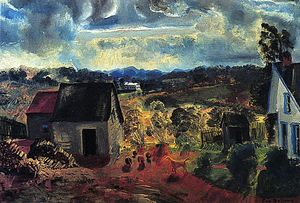 George Wesley Bellows - Sunset, Shady Valley (also known as Bogg's Road)