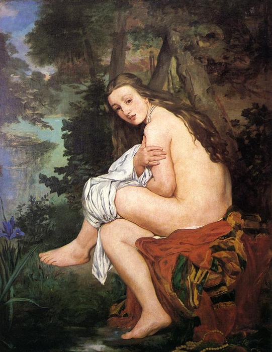 famous painting The Surprised Nymph of Edouard Manet