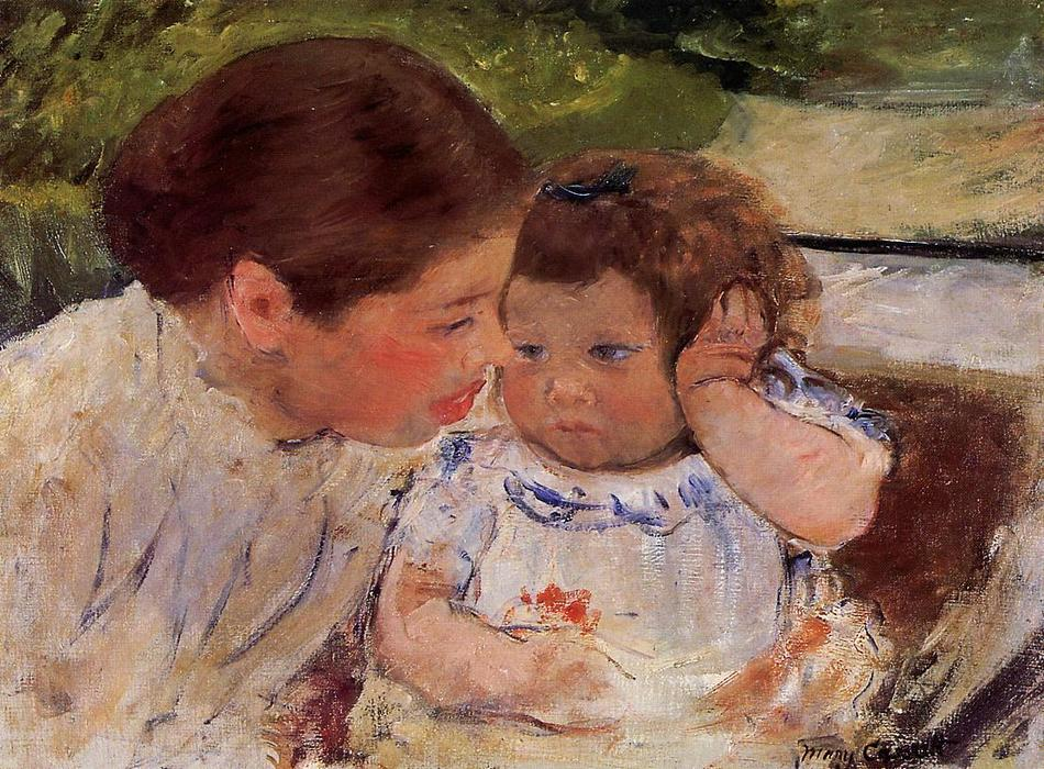 famous painting Susan Comforting the Baby (no.1) of Mary Stevenson Cassatt