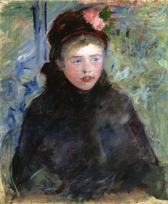 famous painting Susan in a Toque Trimmed with Two Roses of Mary Stevenson Cassatt