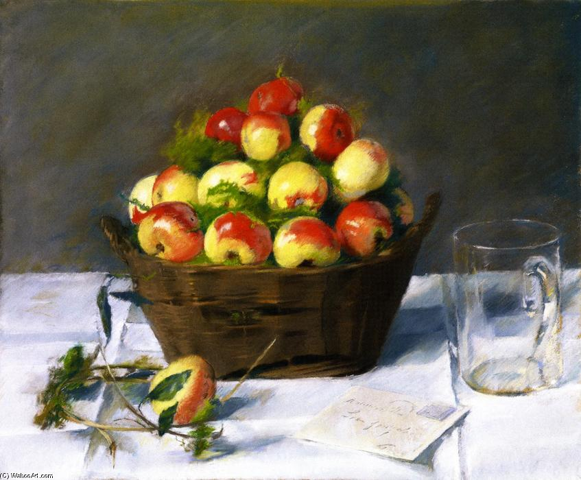 famous painting Sweet Apples of Eva Gonzales